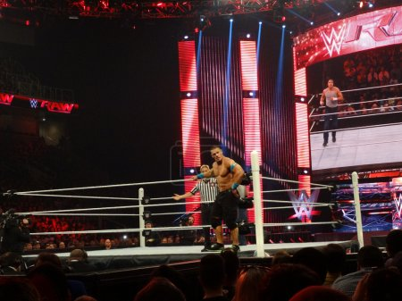 WWE Superstar John Cena looks into crowd before USA Championship