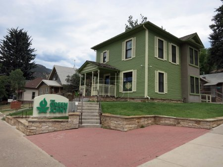 The Green Joint Marijuana Shop and sign in Greenwood Springs