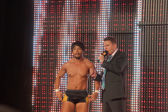 NXT Wrestle Hideo Itami interview at top of the ramp