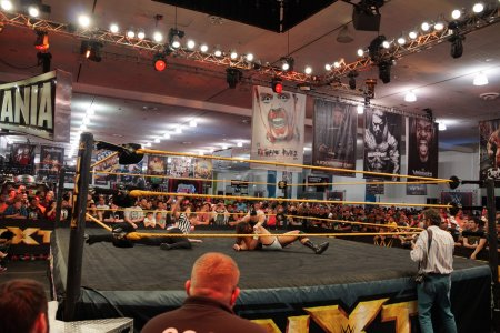 NXT Wrestle Bull Dempsey pins opponent Jason Jordan in ring with