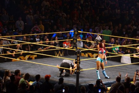 NXT Female wrestlers Sasha Banks holds Womens Championship title