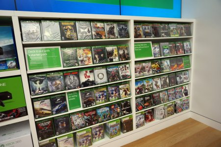 Rows of Xbox One on