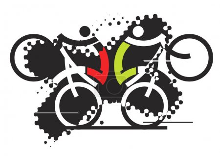 Freestyle cyclists