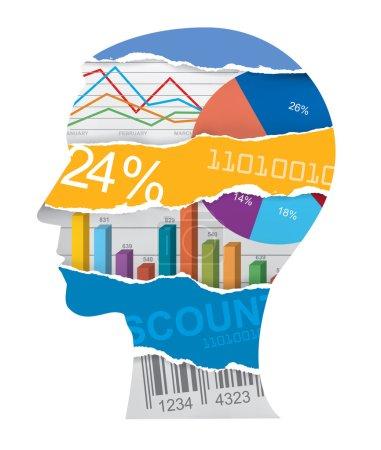 Economist sales manager head silhouette
