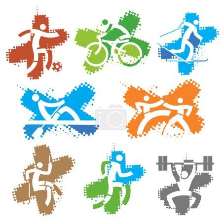 Sport grunge icons.