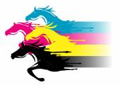 Fast CMYK printing concept