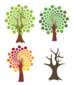 Four abstract trees.