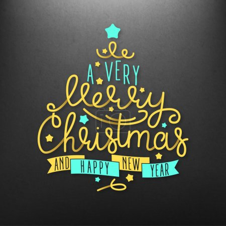 A Very Merry Christmas lettering illustration
