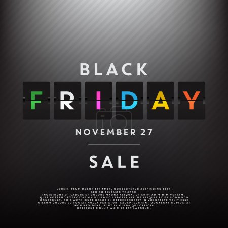 Illustration for Black Friday sale vector illustration - Royalty Free Image