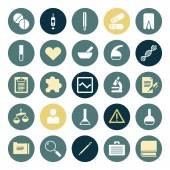 Flat design icons for medical science Vector illustration