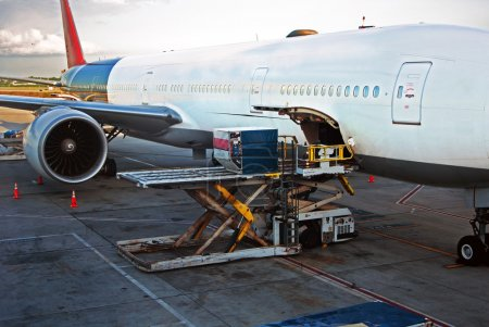 Loading cargo Airplane
