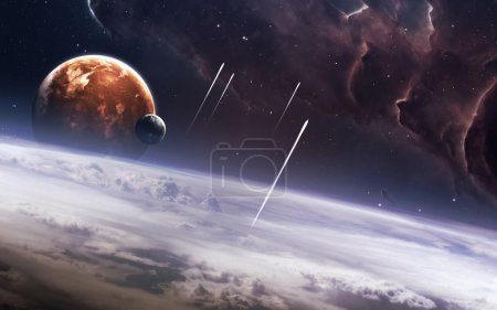 Photo for Universe scene with planets, stars and galaxies in outer space showing the beauty of space exploration. Elements furnished by NASA - Royalty Free Image