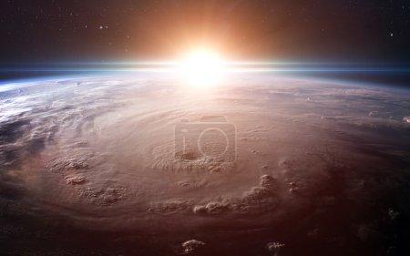Photo pour Vue de la terre depuis l'espace. Éléments de cette image fournie par la Nasa - image libre de droit