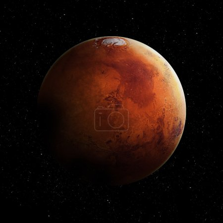 Photo for Hight quality Mars image. Elements of this image furnished by NASA - Royalty Free Image
