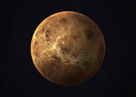Shot of Venus taken from open space. Collage images provided by www.nasa.gov.