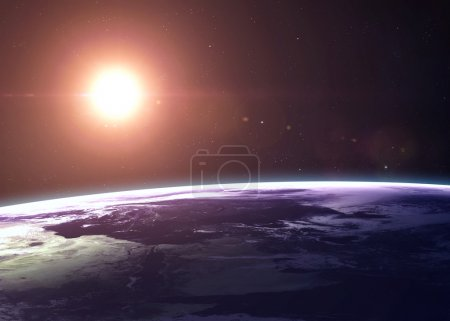 The Earth shot from space showing all they beauty. Extremely detailed image, including elements furnished by NASA. Other orientations and planets available.