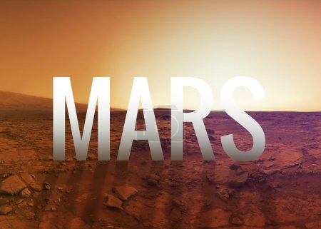 Photo for Mars surface. Elements of this image furnished by NASA - Royalty Free Image