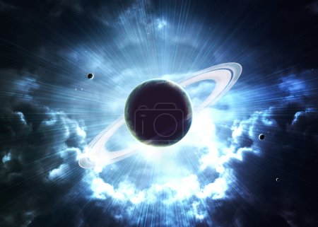 Photo pour Champ stellaire dans l'espace lointain à des années-lumière de la Terre. Éléments de cette image fournis par la NASA - image libre de droit