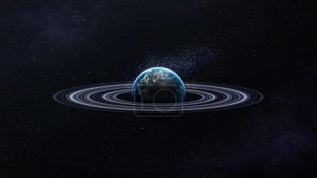 Photo pour Scène d'univers avec des planètes, des étoiles et des galaxies dans l'espace, montrant la beauté de l'exploration spatiale. Éléments fournis par la Nasa - image libre de droit