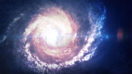 Incredibly beautiful spiral galaxy somewhere in de...