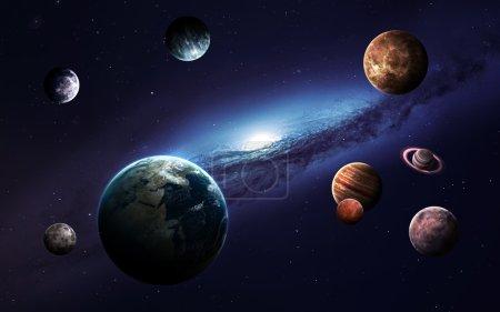 Photo pour Images de haute résolution présente des planètes du système solaire. Ce éléments de l'image fournie par la Nasa - image libre de droit