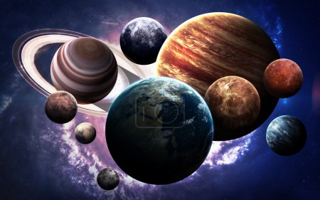 High resolution images presents planets of the solar system. This image elements furnished by NASA.