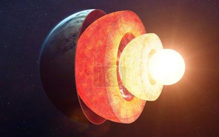 Photo pour Structure de base de la terre. Éléments de cette image fournie par la Nasa - image libre de droit