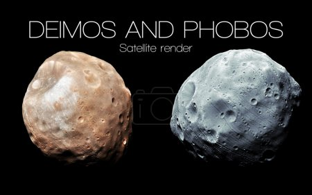 Deimos and Phobos - High resolution 3D images pres...