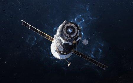 Photo pour Spacecraft Soyouz. Les éléments de cette image fournie par la Nasa - image libre de droit