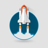 Space Shuttle Launch Spaceship and space background