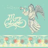 Grußkarte für Weihnachten-Engel