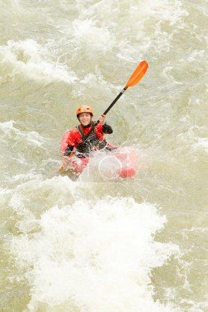 Happy Kayaker High Angle