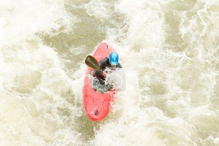 Whitewater Kayaker Aerial