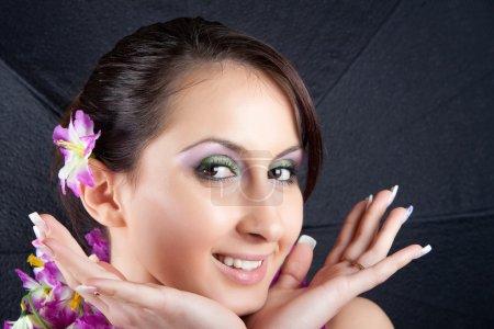 Cute Young Woman Head Shot Studio