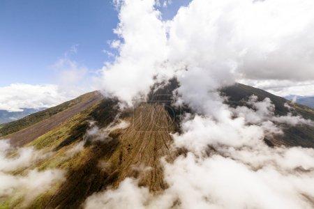Tungurahua Volcano Helicopter Shot