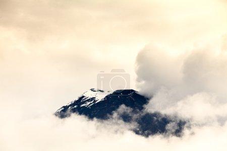 Tungurahua Volcano Covered By Ice