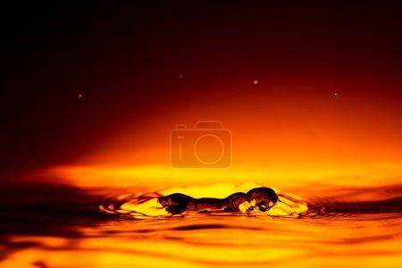 Water Drop Red Splash