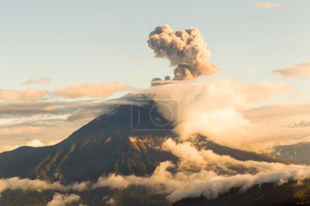 Tungurahua Volcano Ash Blast Wide Angle