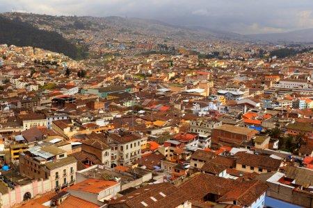 Photo pour Partie sud de Quito, après de fortes pluies - image libre de droit