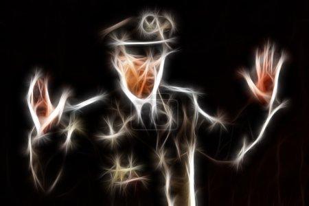 Photo pour Coup de fractale abstraite d'un transfuge agent - image libre de droit