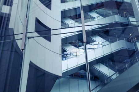 Photo for Fragment of modern architecture going up - Royalty Free Image