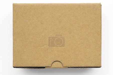 Photo for Carton package box with blank top isolated on white - Royalty Free Image