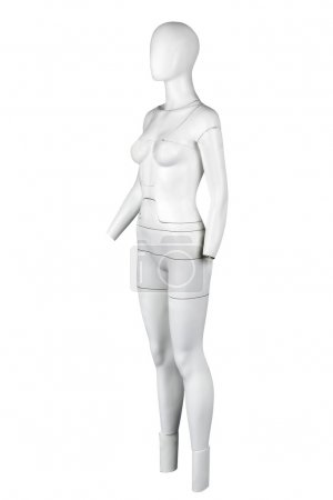 Photo for Mannequin. Isolated against white background. - Royalty Free Image