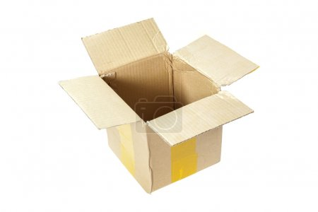 Photo for Cardboard box on a white background - Royalty Free Image