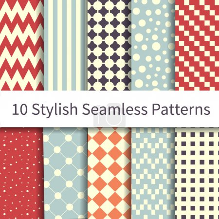 Geometric different seamless patterns