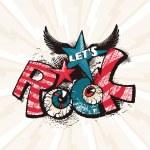 Grunge rock poster vector illustration...