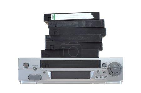 A close up shot of a video cassette...