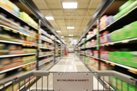 Aisle in supermarket