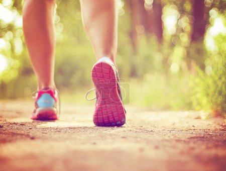 Athletic pair of legs jogging