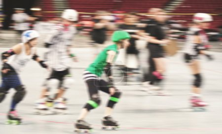 Women participating in roller derby
